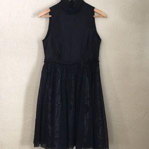 Vintage Vivienne Tam Black Silver Cocktail Dress